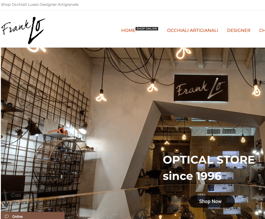 Franklo Shop Online Occhiali di Lusso